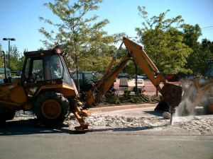 large digging equipment in action made possible by a loan