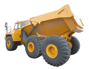 large yellow mining truck