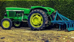 tractor with digging attachment